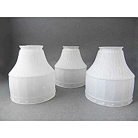 "Set of 3 Antique Arts & Crafts Glass Shade - 2-1/4"" Fitter"
