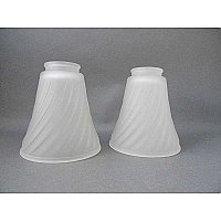 "Set of 2 Antique Shades - 2-1/4"" Fitter"