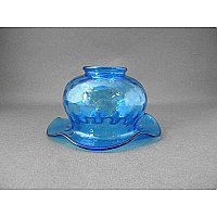 "Antique Blue Carnival Glass Shade - 2-1/4"" Fitter"