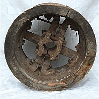 Antique Large Industrial Pulley