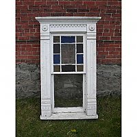 Antique Cottage Window with Frame
