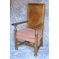 Antique Quartersawn Oak Arm Chair