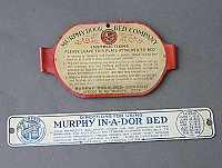 Antique Murphy Bed Metal Plaques
