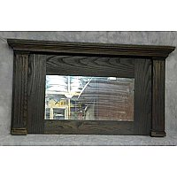 Antique Oak Fluted Colum Mirror