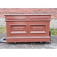 Large Antique Wood Front Desk