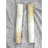 Pair of Solid Antique Marble Cylinders