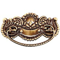 Victorian Drawer Pull, Antique Brass