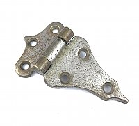 "Antique Nickel Plated 3/8"" Offset Icebox Hinge - Single Hinge"
