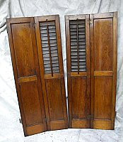 Antique Pine Interior Shutters