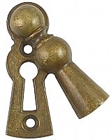 Antique Bronze Keyhole Drop Escutcheon or Keyhole Cover with Swinging Cover by Lockwood Manufacturing - Circa 1914