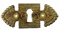 Antique Cast Bronze Keyhole Escutcheon - Circa 1875