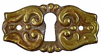 Antique Wrought Bronze Keyhole Escutcheon - Circa 1880