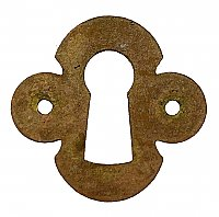 Antique Cast Bronze Keyhole Escutcheon - Circa 1910