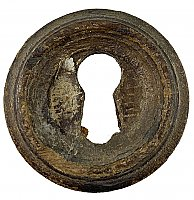 Antique Wooden Keyhole Escutcheon - Circa 1870