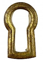 Antique Wrought Bronze Keyhole Insert - Circa 1890