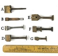 Yale & Towne Antique Mortise Lock Parts - Latch Bolts