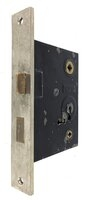 Antique Nickel Plated Norwalk Lock Co. Door Mortise Lock - Circa 1910
