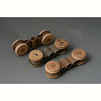 Antique Wooden Pocket Door Hanger Rollers Only