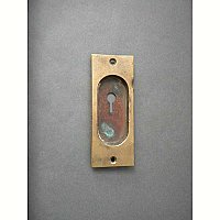 Antique Single Bronze Pocket Door Flush Pull