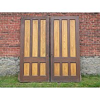 Pair of Antique Chestnut Pocket Doors