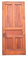 Antique Five Panel Douglas Fir Pocket or Sliding Door - Circa 1915