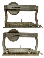 "Antique Pair of ""Lane's Parlor Door Co."" Patent Steel Pocket or Sliding Door Hangers - Circa 1890"