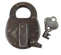 Antique Miller N.Y.C.R.R. Signal Box Padlock with Key - Circa 1914