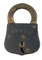 Antique Omeco Steel Padlock - No Key