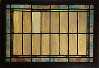 Antique Arts & Crafts Style Stained Glass Window