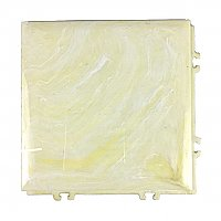 "Antique Yellow Marble ""Pittsburgh Interlock"" Polystyrene Plastic Wall Tile - 4-1/4"" x 4-1/4"" - Sold Each"