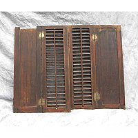 Pair of Antique Pine Interior Shutters