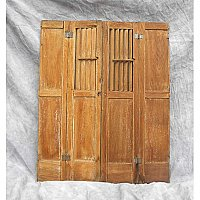 Pair of Oak Antique Interior Shutters