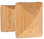 Square Oak Knob Small