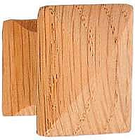 Square Oak Knob Medium