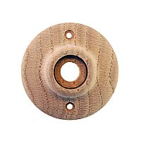 Red Oak Wooden Door Rosette or Escutcheon