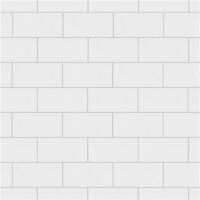 "Crown Heights Matte White 3"" x 6"" Subway Tile - Sold Per Case of 44 Tile - 6.03 Square Feet"