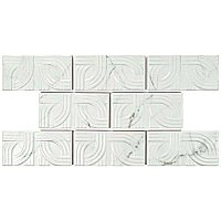 "Classico Carrara Matte Metropolis 3"" x 6"" Ceramic White Tile - Sold Per Case of 8 - 1 Square Feet Per Case"