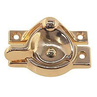 Brass Crescent Window Sash Lock With Square Corners
