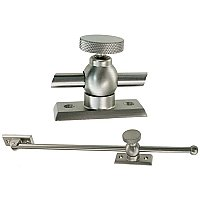 "12"" Casement Window Adjuster, Brushed Nickel"