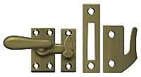 Medium Solid Brass Casement Window or Cabinet Latch