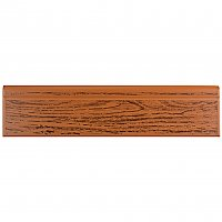"Battiscopa Satin Oak Wood 3-1/4"" x 13-1/8"" Ceramic Wall Trim - Sold Per Tile - 0.30 Square Feet"
