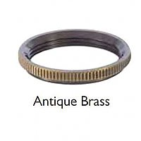 Brass UNO Ring for Turned Brass Premium Lamp Socket-Antique Brass