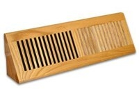 "Red Oak Wood Baseboard Grille - 4"" x 13"" - Finished or Unfinished"
