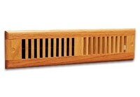 "Red Oak Wood Toekick Grille - 2-1/4"" x 12"" - Finished or Unfinished"