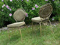 Antique Metal Café Chairs