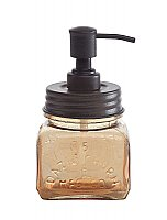 Amber and Dark Bronze Vintage Style Soap Dispenser
