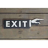Metal Pointing Exit Sign