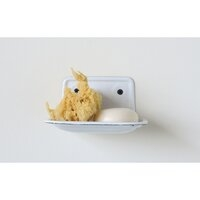 White Enamel Wall Mount Soap Dish