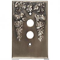 Festoon Antique Pewter Single Pushbutton Forged Switchplate