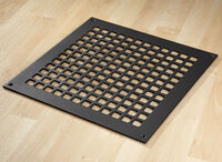 "Square Grid Design Heat Grate or Register, 6 Finishes Available, 12"" x 12"" Duct Size"